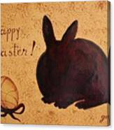 Easter Golden Egg And Chocolate Bunny Canvas Print