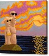 Easter Island Sunset Canvas Print
