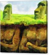 Easter Island Truth Canvas Print