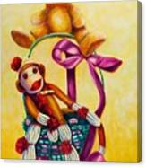 Easter Made Of Sockies Canvas Print