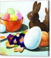 Easter Morning Still Life Canvas Print
