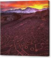 Eastern Sierra Petrolpyh Sunset Canvas Print