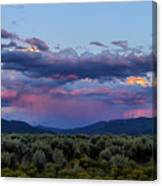 Eastern Sky At Sunset - Taos New Mexico Canvas Print