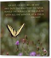 Eastern Tiger Swallowtail Butterfly - The Beauty Of The Wild Canvas Print