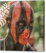 Eastern Woodland Indian Portrait Canvas Print