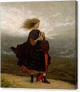 Eastman Johnson - The Girl I Left Behind Me Canvas Print