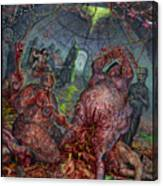 Eating The Stench Canvas Print