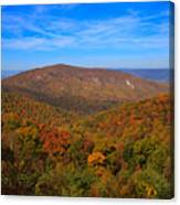 Eaton Hollow Overlook On Skyline Drive In Shenandoah National Park Canvas Print