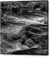 Eau Claire Dells Black And White Flow Canvas Print