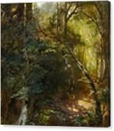 Ebert, Carl 1821 Stuttgart - 1885   Inside A Forest. Canvas Print