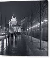 Ebertstrasse And The Brandenburg Gate Canvas Print