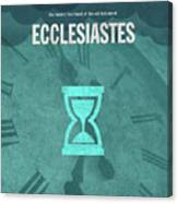 Ecclesiastes Books Of The Bible Series Old Testament Minimal Poster Art Number 21 Canvas Print