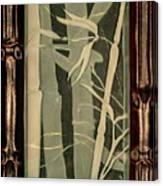 Eclipse Bamboo With Frame Canvas Print