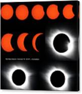 Eclipse Sequence Canvas Print