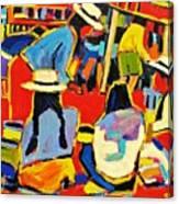 Ecuador Street Market Canvas Print