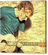 Ed Sheeran And Guitar Canvas Print