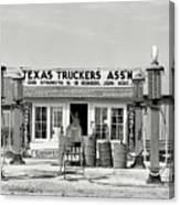 Edcouch Texas Gas Station 1939 Canvas Print