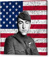 Eddie Rickenbacker And The American Flag Canvas Print