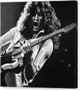 Eddie Van Halen - Black And White Canvas Print
