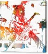 Eddie Van Halen Paint Splatter Canvas Print
