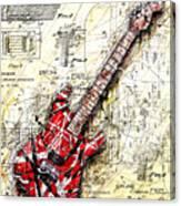 Eddie's Guitar 3 Canvas Print