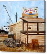 Eddies On The Creek Belford Nj Canvas Print