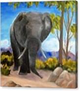 Eddy Elephant Canvas Print