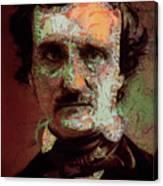 Edgar Allan Poe Artsy 2 Canvas Print