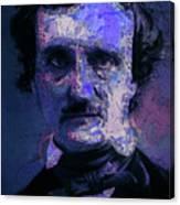 Edgar Allan Poe, Artsy 1 Canvas Print