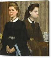 Edgar Degas - The Bellelli Sisters Giovanna And Giuliana Bellelli Canvas Print