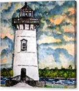 Edgartown Lighthouse Martha's Vineyard Mass Canvas Print