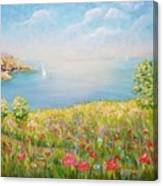 Edge Of The Cliffs By The Sea Canvas Print