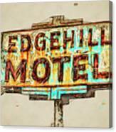 Edgehill Sketched Canvas Print