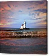 Edgewater Lighthouse Sunset Canvas Print
