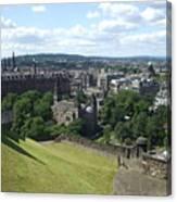 Edinburgh Castle View #6 Canvas Print