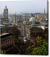 Edinburgh Princess Street Canvas Print