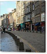 Edinburgh Royal Mile Street Canvas Print