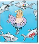 Editorial Cartoonist Canvas Print