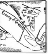 Editorial Maze Cartoon - Economy Of Greece By Yonatan Frimer Canvas Print