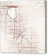 Edmonton Street Map Colorful Copper Modern Minimalist Canvas Print