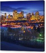 Edmonton Winter Skyline Canvas Print