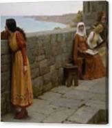 Edmund Blair Leighton - The Hostage 1912 Canvas Print
