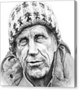 Portrait Edmund Hillary Canvas Print
