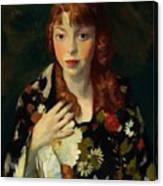 Edna Smith In A Japanese Wrap 1915 Canvas Print