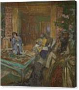 Edouard Vuillard  Sewing Party At Loctudy Canvas Print