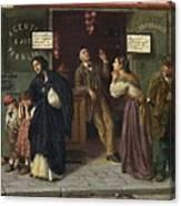 Eduardo Matania, Beim Pfandleiher 1870s Canvas Print