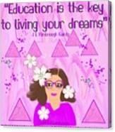 Education Is The Key Canvas Print