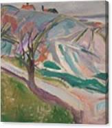 Edvard Munch , Landscape, Kragero Canvas Print