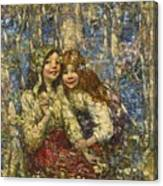 Edward Atkinson Hornel 1864-1933 The Bluebell Wood Canvas Print