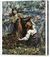 Edward Atkinson Hornel 1864 - 1933 The Butterfly Catchers Canvas Print